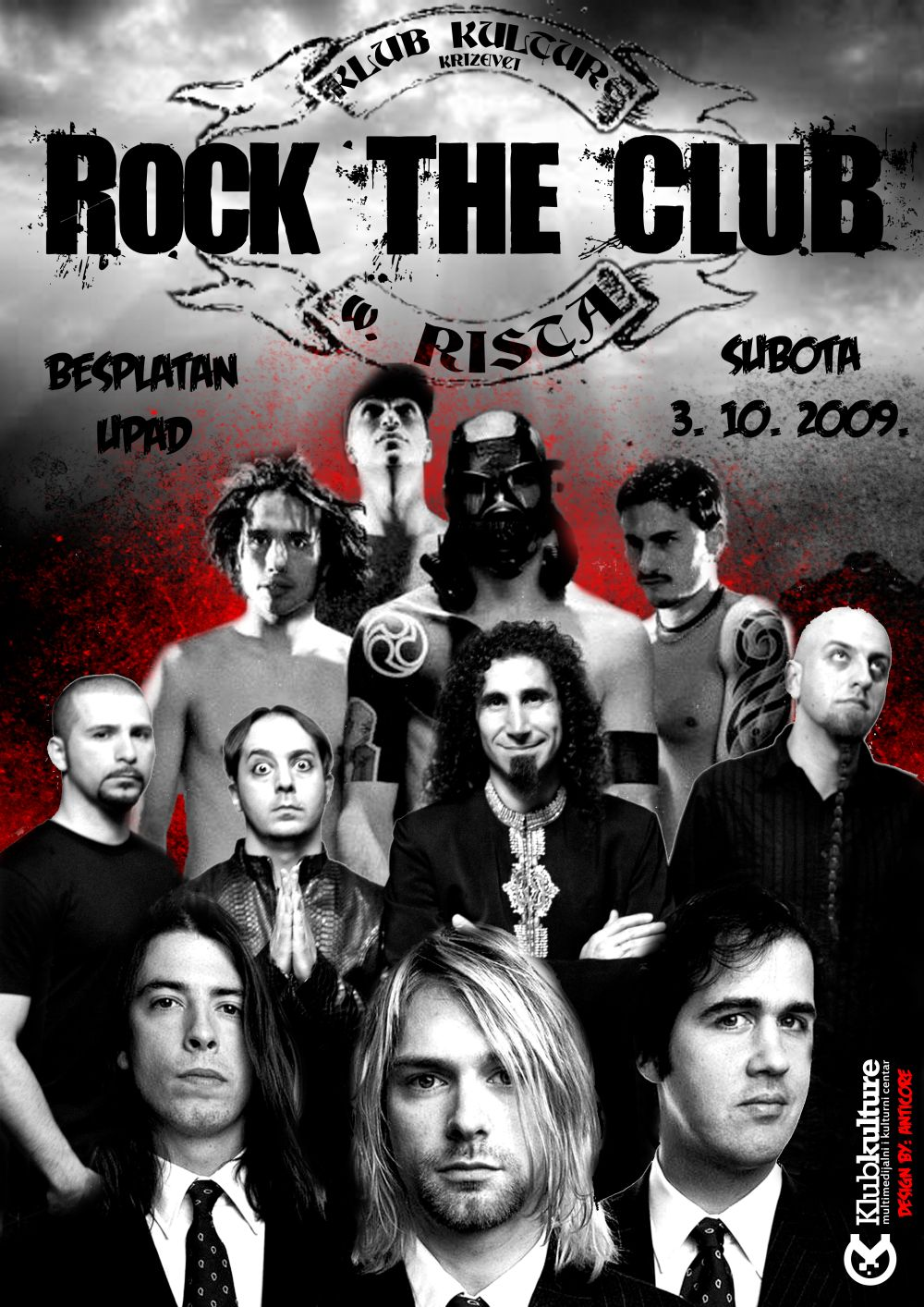 Klub kulture - Rock the Club with Rista - PRINT