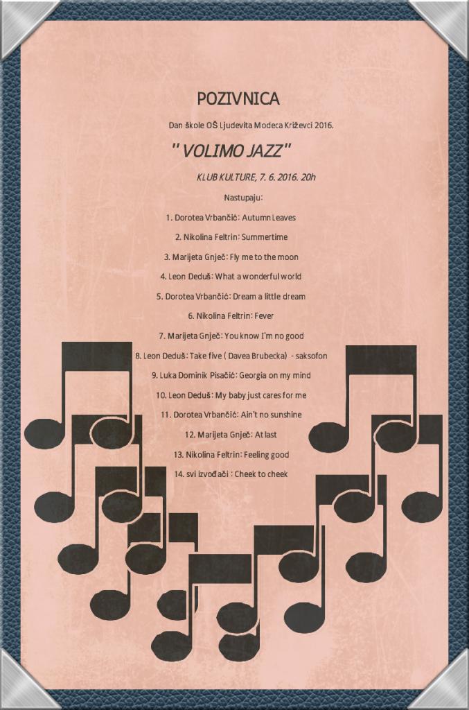 Pozivnica Jazz koncert